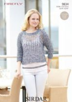 Sirdar Firefly - 9834 Jumper Knitting Pattern